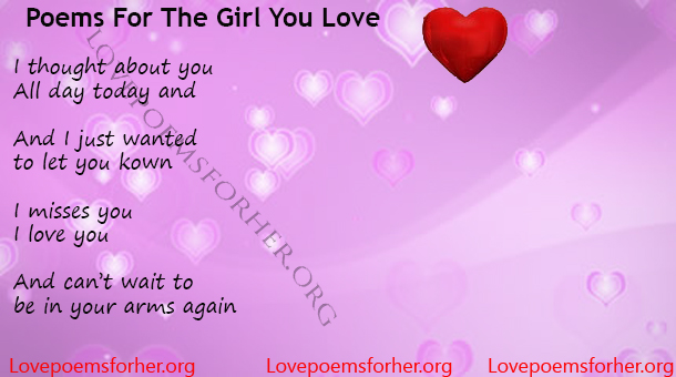 poems for the girl you love