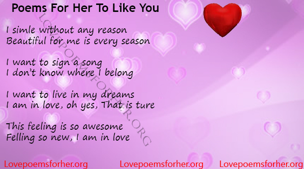poems for her to like you