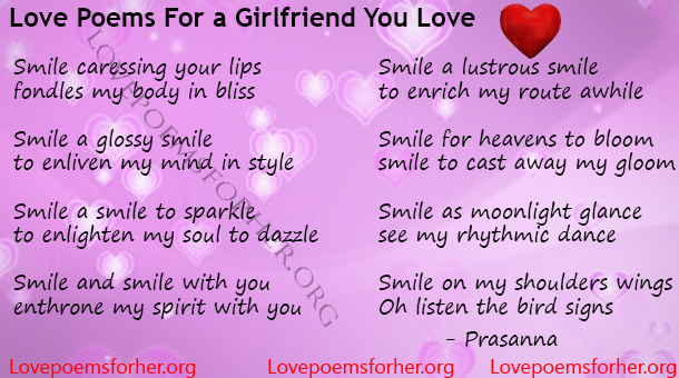 Love Poems For A Girlfriend You Love